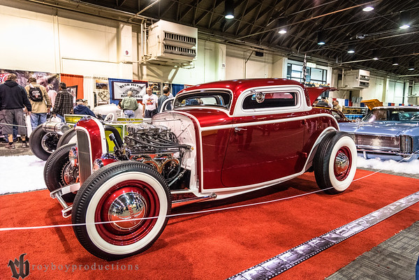 1932; 2017; 3 Window Coupe; CA; California; Ford; GNRS; Grand National Roadster Show; John Foxley; Pomona 1932 Ford 3 Window Coupe owned by John Foxley