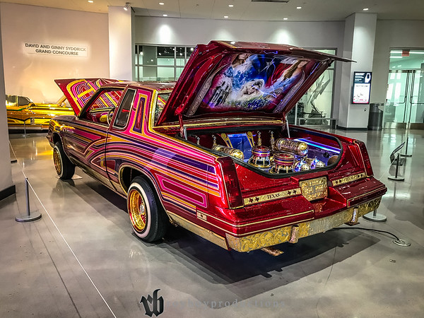 The Petersen Museum had a low rider display going on on the first floor. They aren